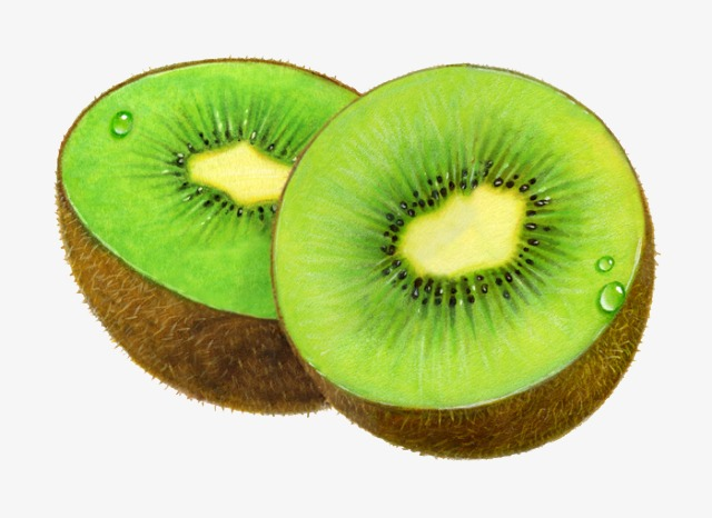 sliced kiwi, Slit, Kiwi, Drop - Kiwi Clipart