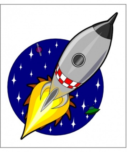Kliponius Cartoon Rocket clip art Vector | Free Download