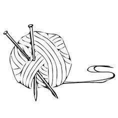 Knitting ball by nicubunu - knitting ball and pins