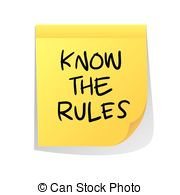 ... Know The Rules - Motivational concept vector illustration of.