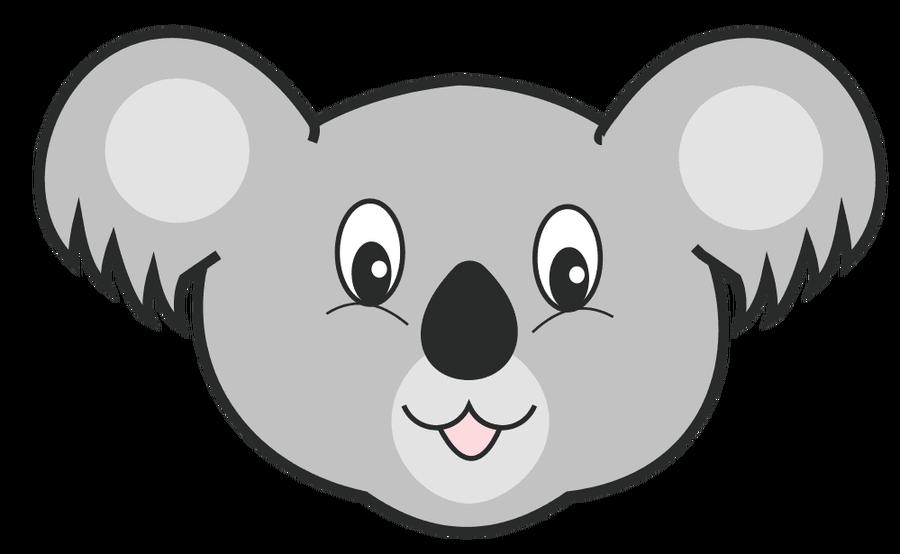 Koala Bear Face Clip Art