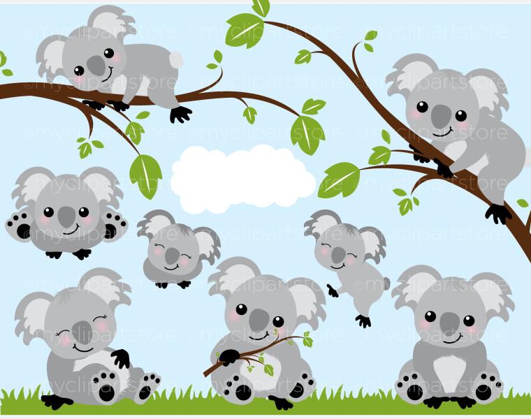 Koala Bear Frame Clipart #1