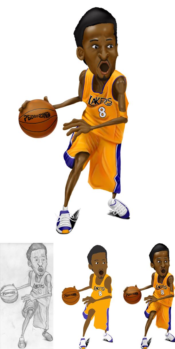 Kobe Bryant By Pedrozanin ClipartLook.co-Kobe Bryant by pedrozanin ClipartLook.com -7