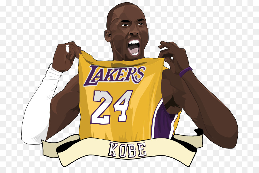 Kobe Bryant Los Angeles Lakers Basketbal-Kobe Bryant Los Angeles Lakers Basketball Clip art - Cliparts Kobe Bryant-14