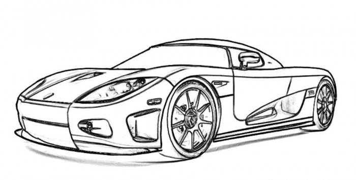 Koenigsegg CCX Sports Car Coloring Picture | Free Online Cars Coloring  Pages For Kids