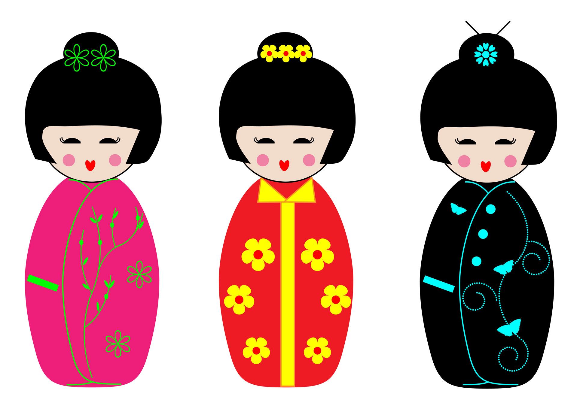 Kokeshi Dolls Clipart-Kokeshi Dolls Clipart-15