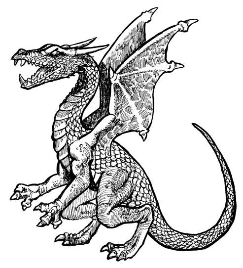 Komodo Dragon Clip Art Free | - Free Dragon Clipart