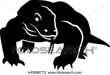 Clipart - Komodo Dragon Front. Fotosearc-Clipart - Komodo dragon front. Fotosearch - Search Clip Art, Illustration  Murals, Drawings-3