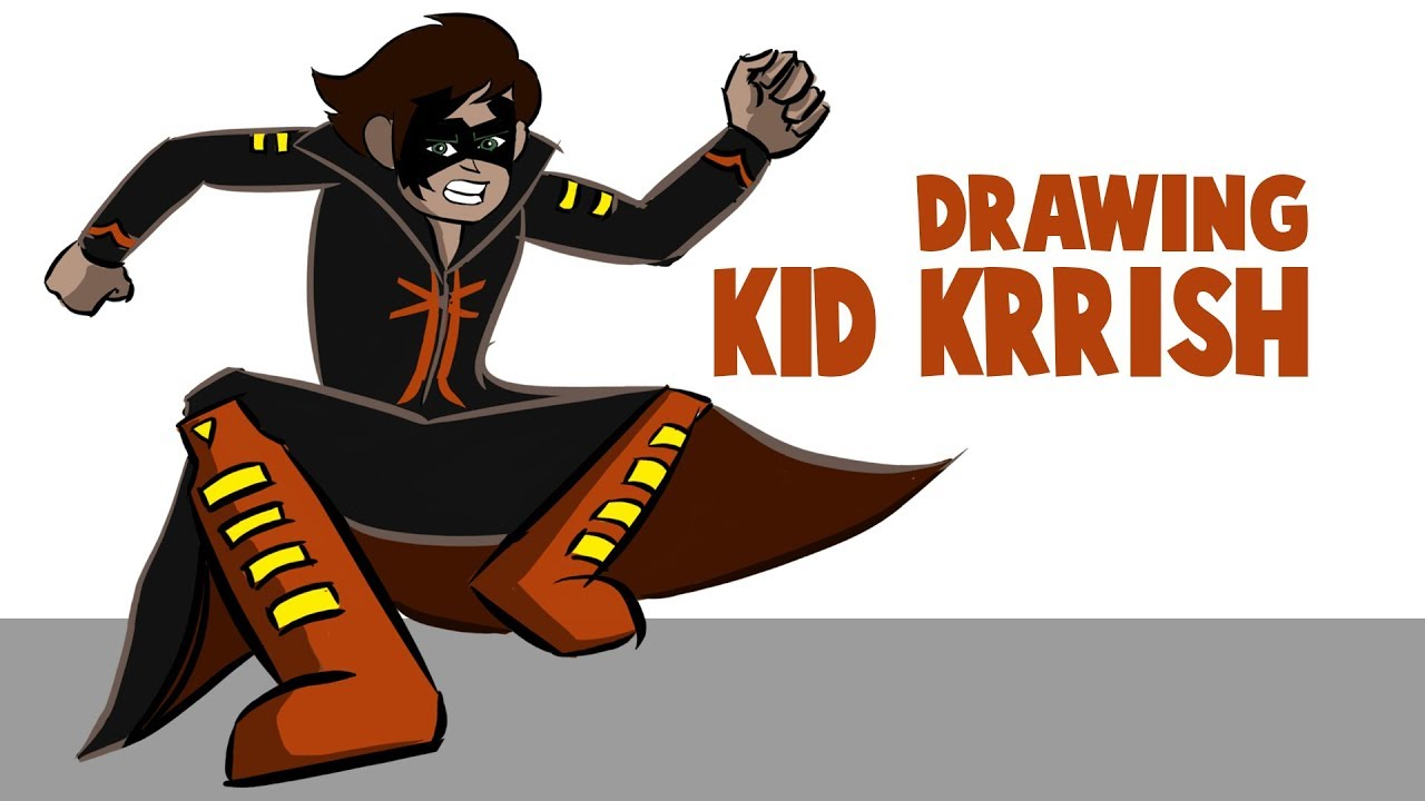 Drawing And Coloring Kid Krrish In Krita | How To Draw Kid Krrish |