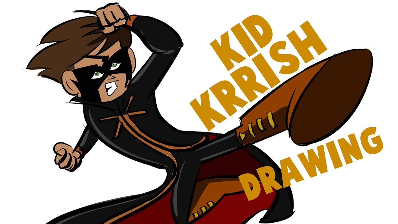 How To Draw Kid Krrish | Drawing And Coloring Kid Krrish In KRITA |