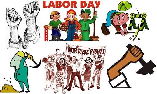 Labor day animations clip art