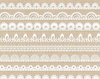 Lace border clip art: u0026quot;LACE BORDERSu0026quot; clipart pack with digital lace border images for scrapbooking, card making, invites