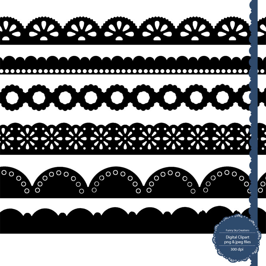 Scalloped lace. Clip art clipartlook