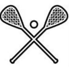 Lacrosse on women clipart