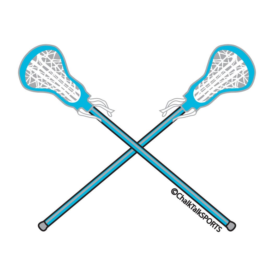 ... Lacrosse sticks clipart ...