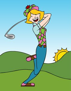 Ladies Golf Clip Art Free .-Ladies Golf Clip Art Free .-14