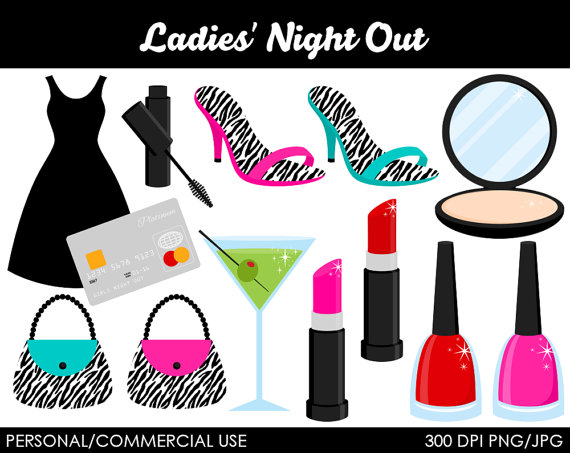 Ladies Night Out Clipart Digi - Ladies Night Out Clip Art