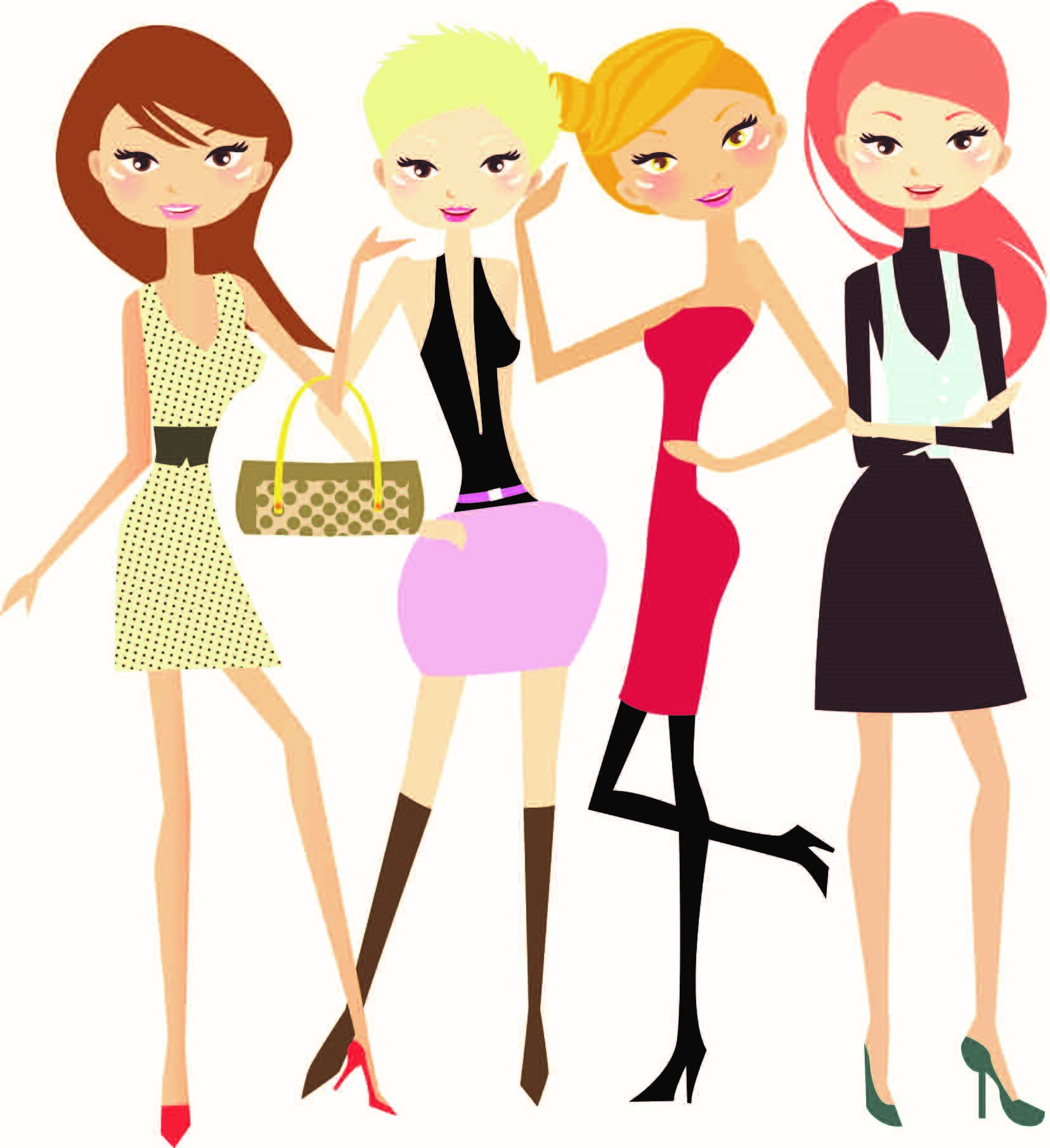 Ladies Night Out Clipart ... Resolution 1656x1811 .