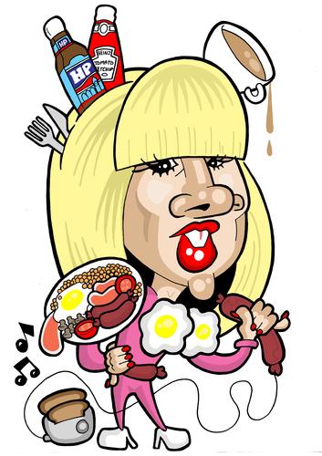 Cartoon: Lady GaGa (medium) by Ca11an tagged lady,gaga,caricature