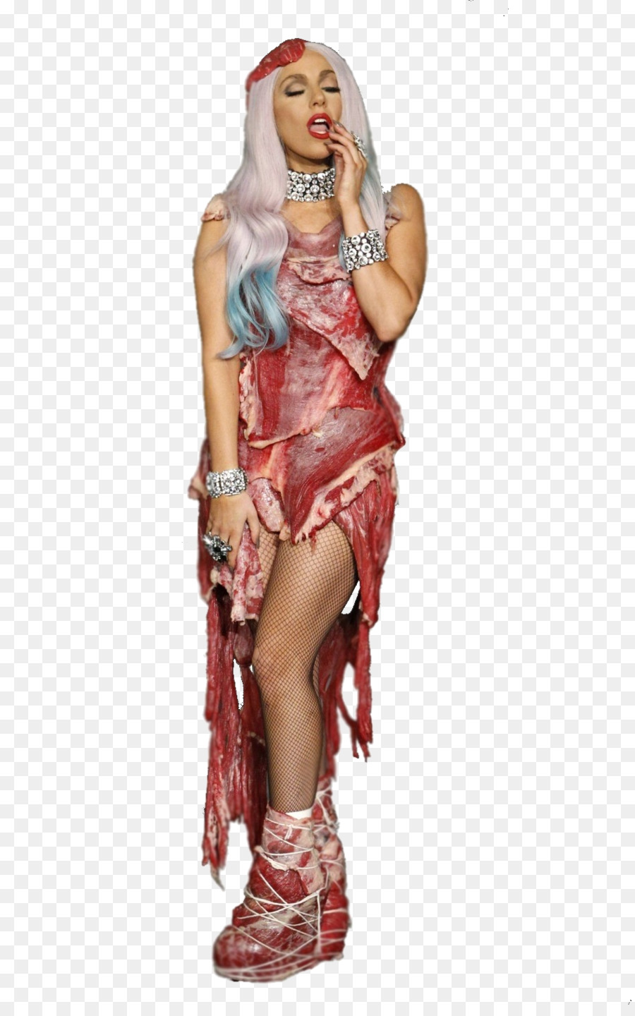 Lady Gagau0027s meat dress The Fame Christmas Tree Clip art - watching clipart