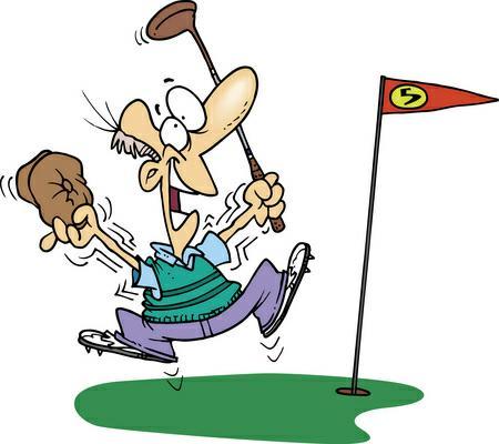 Lady Golfer Clipart