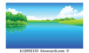 Lake And Green Landscape-Lake and green landscape-10