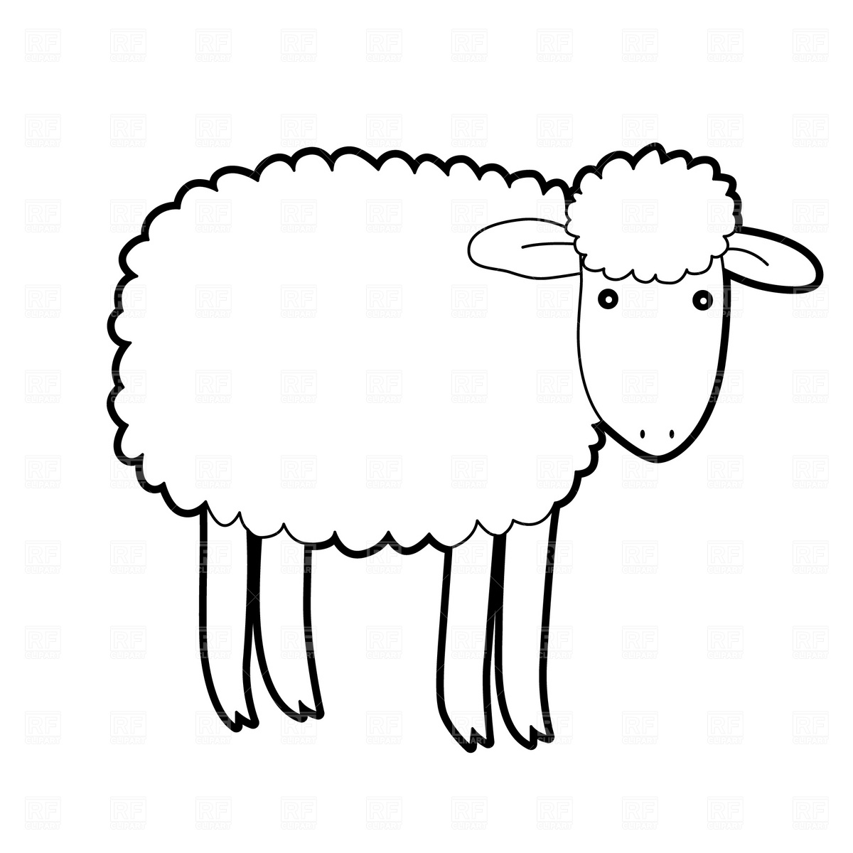 79+ Free Sheep Clipart   ClipartLook