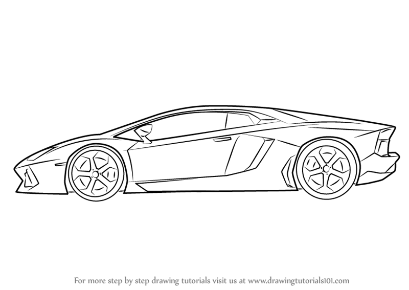 How to Draw Lamborghini Centenario Side View - DrawingTutorials101 clipartlook.com