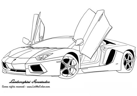 Lamborghini Aventador coloring page-Lamborghini Aventador coloring page-1