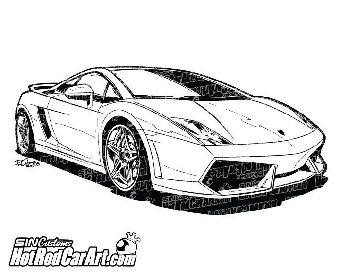 Lamborghini Gallardo Sports Car - Clip Art