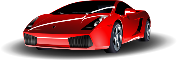 . ClipartLook.com free vector Red Lamborghini clip art