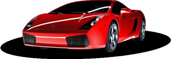 . ClipartLook.com free vector Red Lamborghini clip art