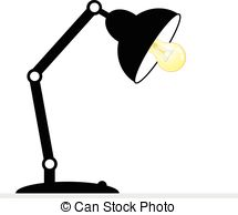 . ClipartLook.com Desk lamp - isolated on white background. vector eps 10