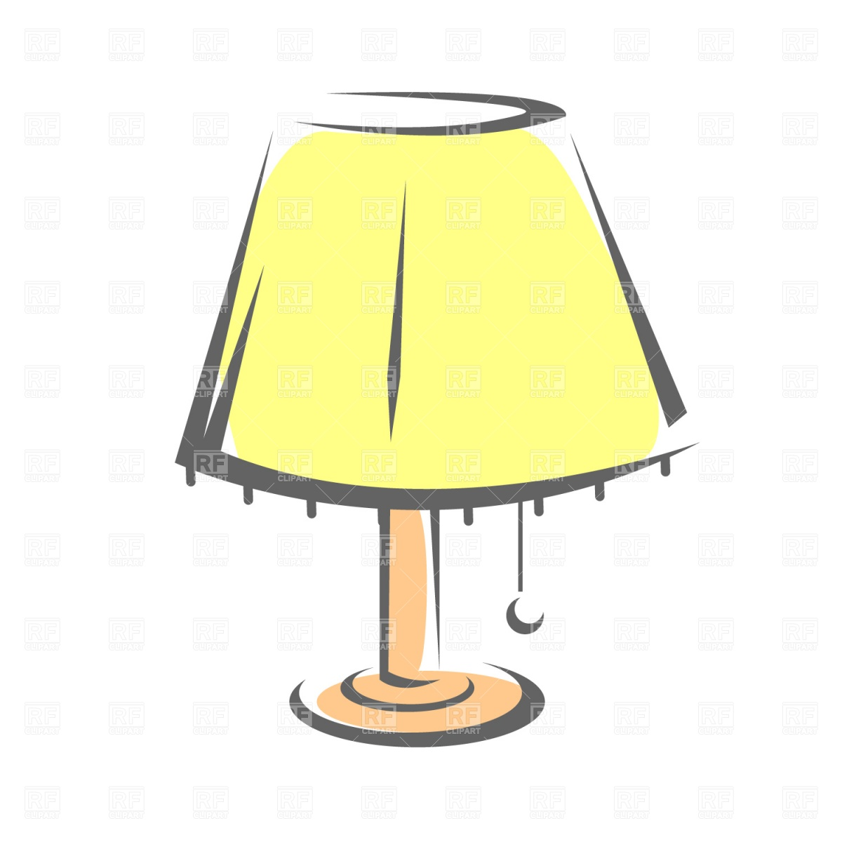 Standard lamp with shade Royalty Free Vector Clip Art