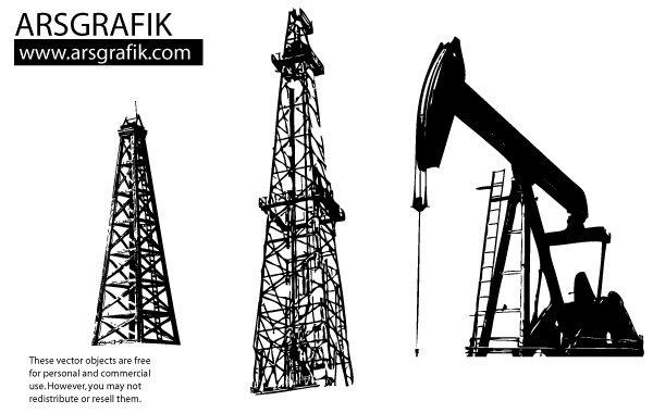 Land Oil Rig Clipart