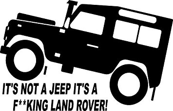 Fun Land Rover TD5 Defender 4x4 Off Road Sticker #3: Amazon.co.uk: Kitchen  u0026 Home
