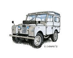 Land Rover Defender, Car Vehicle, Land R-Land Rover Defender, Car Vehicle, Land Rovers, Art Posters, Searching, Clip  Art, Card Ideas, 4x4, Helicopters-18