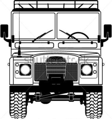 Safari Land Rover Front of The Vector stock vector - Clipart.me