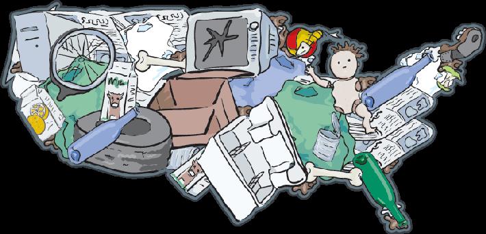Landfill USA - The Importance Of Recycli-Landfill USA - The Importance of Recycling | Clipart-15
