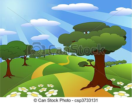 ... Landscape - Beautiful meadow landscape Landscape Clipartby ...