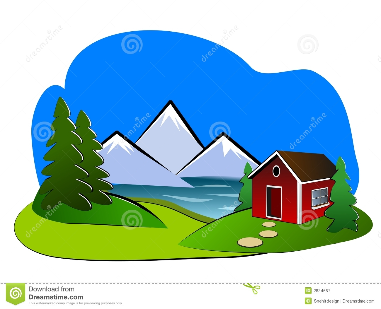 Landscape Clipart Royalty Free Stock Photography Image 2834667