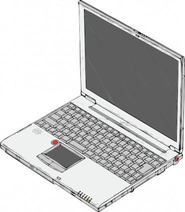 Laptop clip art free vector in .