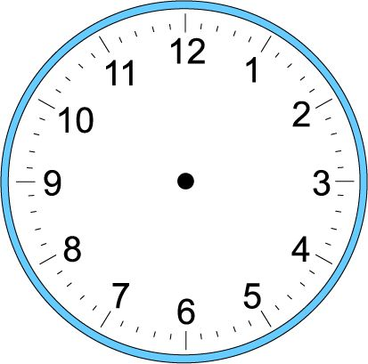 Large Blank Clock Template | Handwriting for Kids - Math - Time - Craft Clock -