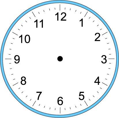 Large Blank Clock Template | Handwriting-Large Blank Clock Template | Handwriting for Kids - Math - Time - Craft Clock --14