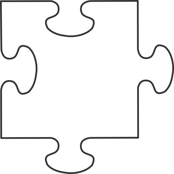 Large Blank Puzzle Pieces | White Puzzle-Large Blank Puzzle Pieces | White puzzle piece clip art-11