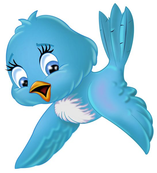 Large Blue Bird PNG Cartoon Clipart-Large Blue Bird PNG Cartoon Clipart-15