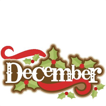 Large december title 3 clip art