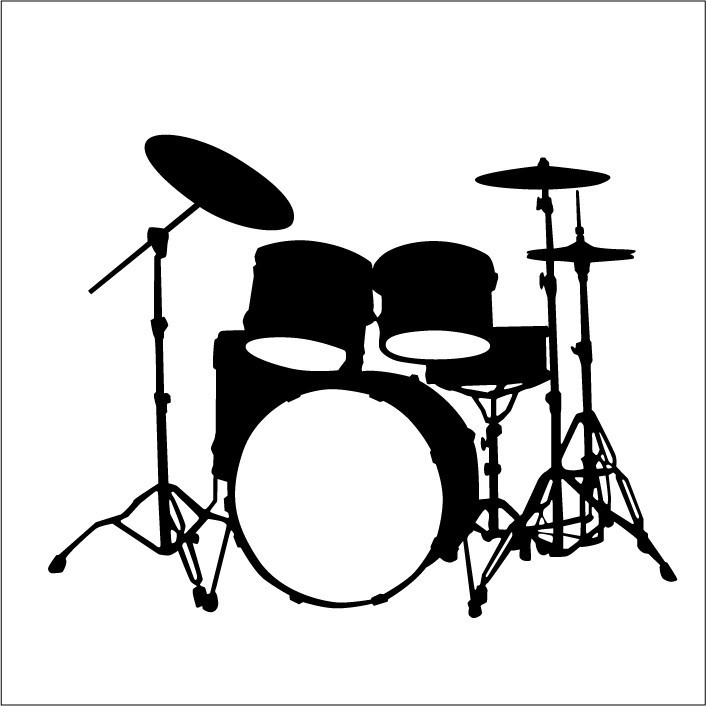 Large drum set wall decal by .