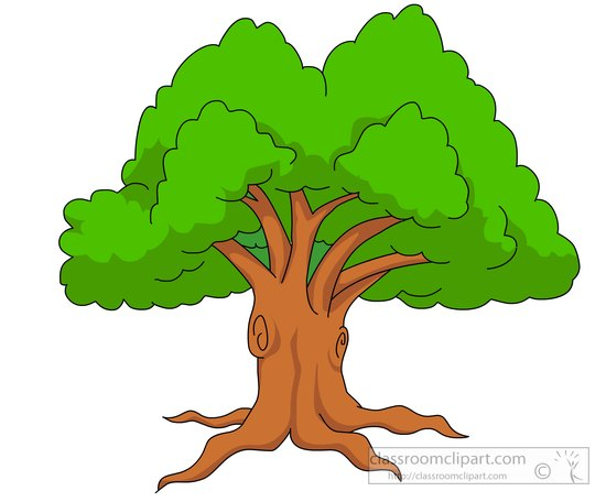 large green tree clipart - Tree Clipart