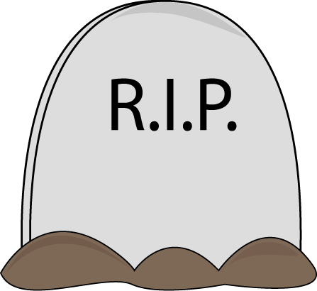 Large Halloween Tombstone With The Letters Rip Surrouned By Dirt